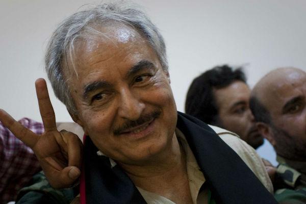 Le maréchal Khalifa Haftar, en 2011 à Benghazi.