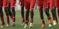 L'équipe nationale du Soudan, lors d'un entraînement en 2012 à Malabo, en Guinée équatoriale.