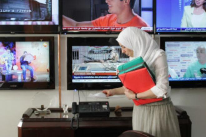 Dans les locaux d'Ennahar TV, en Algérie (image d'illustration).