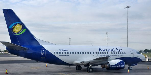 Un avion de RwandAir.