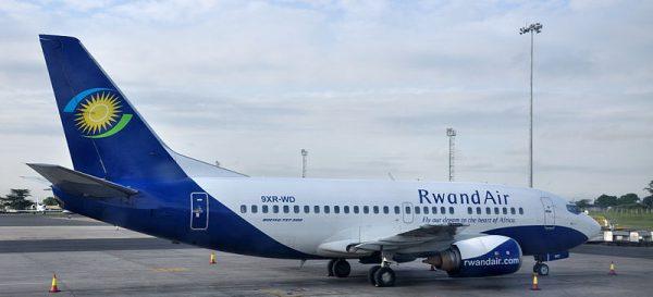 Un avion de RwandAir.