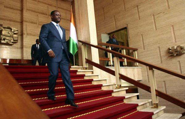 Guillaume Soro, le président de l'Assemblée nationale ivoirienne, au palais présidentiel à Abidjan, en mars 2012.
