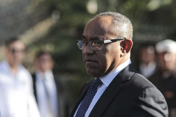 Ahmad Ahmad, le patron malgache de la CAF, lors d'une visite à Marrakech, au Maroc, en mars 2017.