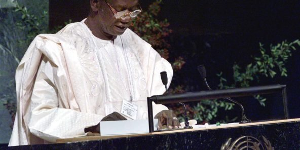 L'ancien président guinéen, Lansana Conté.