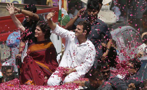 Rahul Gandhi et sa sœur Priyanka Vadra.