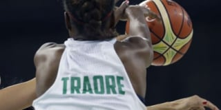 La Sénégalaise Astou Traoré, lors des Jeux olympiques 2016 à Rio, au Brésil.