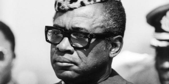 Joseph-Désiré Mobutu ,Maréchal-Président, juin 1983, Lubumbashi (Zaïre)