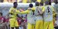 Ousmane Dembele vient d'ouvrir le score pour le Borussia Dortmund contre l'Eintracht Francfort lors de la finale de la coupe d'Allemagne de football, le 27 mais 2017.
