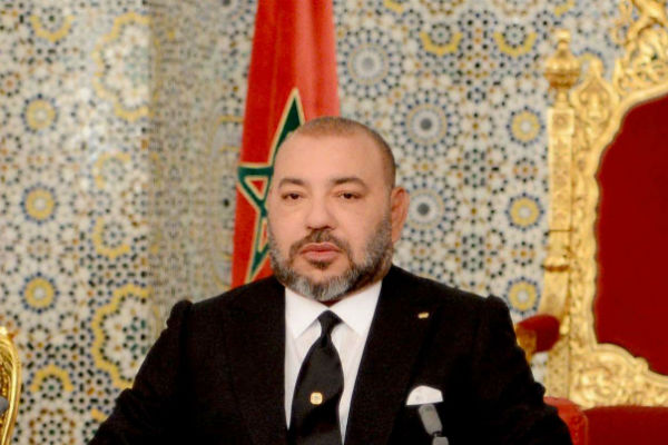 Le roi du Maroc Mohammed VI s'adressant à la nation à l'occasion des 18 ans de son accession au trône, le 29 juillet 2017 (image d'illustration).