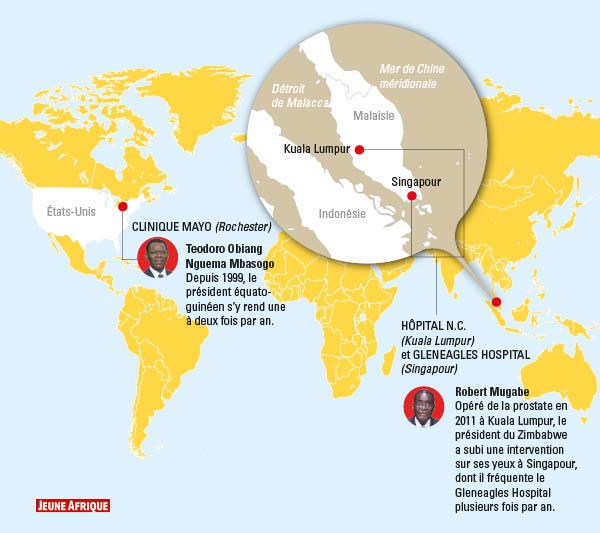 Certains dirigeants africains effectuent leurs visites médicales aux États-Unis ou en Asie.
