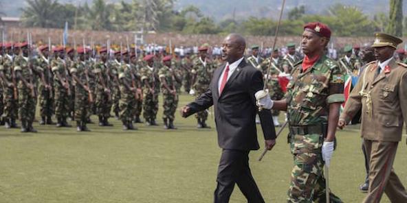 Le président burundais Pierre Nkurunziza au défilé militaire à l'occasion de la fête de l'Indépendance du Burundi, le 1er juillet 2015, à Bujumbura.