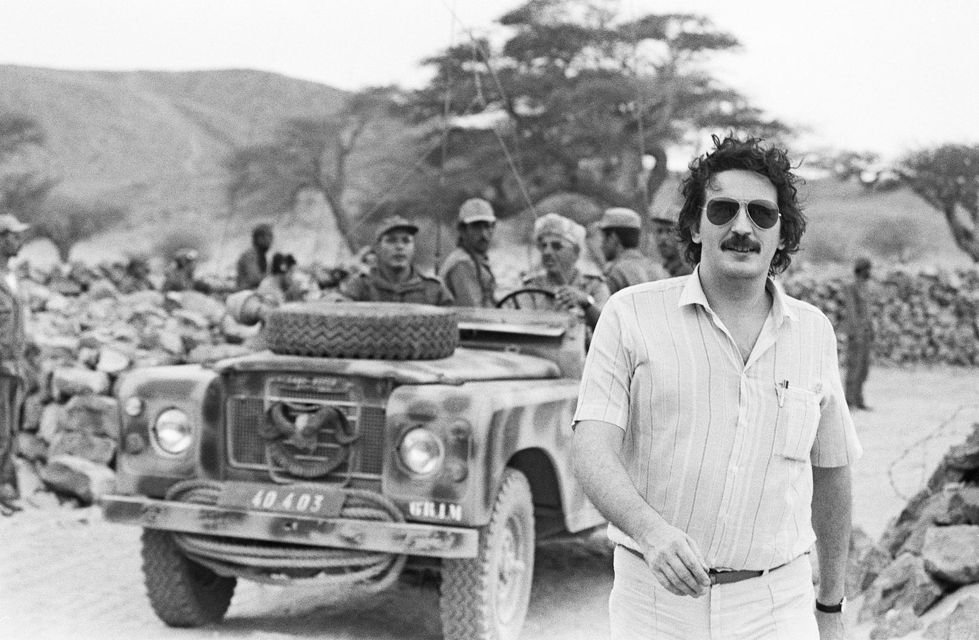 Jean-Christophe Mitterrand, dans le sud du Maroc, le 20octobre 1981.