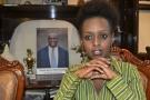 Diane Rwigara, en mai 2017 à son domicile de Kigali.