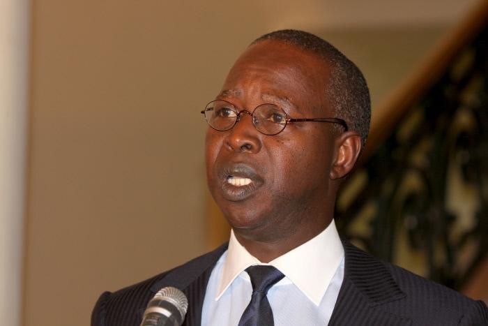 Le Premier ministre sénégalais Mahammed Boun Abdallah Dionne lors de sa première allocution, le 6 juillet 2014.