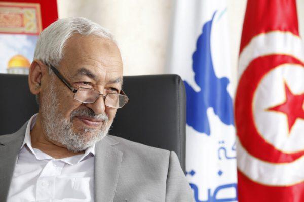 Rached Ghannouchi, le chef du parti Ennahdha, dans son cabinet à Montplaisir, à Tunis, le 7 août 2012.
