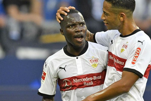 Chadrac Akolo lors du matche  FC Schalke - VFB Stuttgart le 10 septembre 2017.