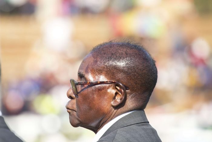 Le président Robert Mugabe à Harare, en août 2017.