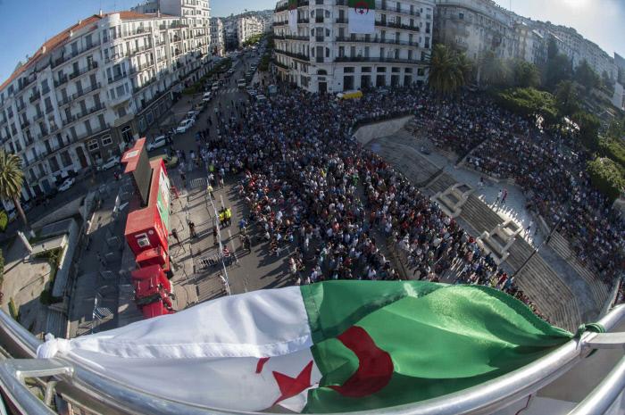 Match Algérie-Belgique (1-2) au Mondial au Brésil. Alger, le 17 juin 2014.