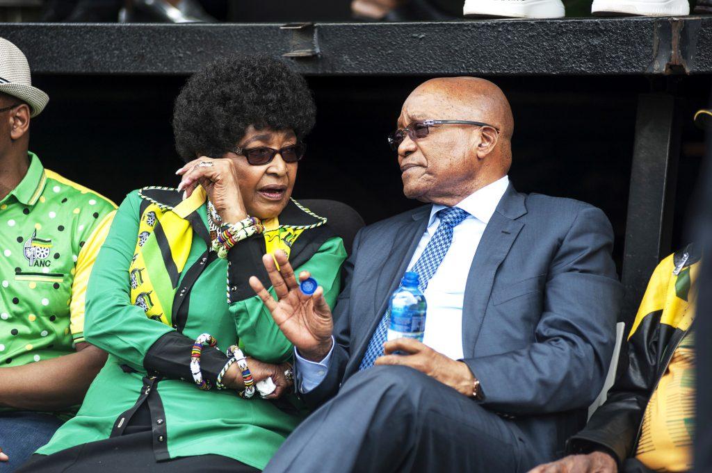 Au côté de Jacob Zuma lors du dernier congrès de l'ANC, en janvier2016.