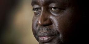 L'ancien président centrafricain François Bozizé à Bangui en janvier 2013, avant sa chute.