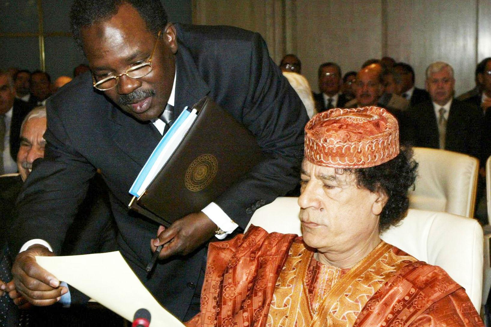 «C'est moi qui ai amené Kadhafi à s'ouvrir à l'Occident », confie Béchir Saleh. Ici à Sharm el-Sheikh, le 1er mars 2003.