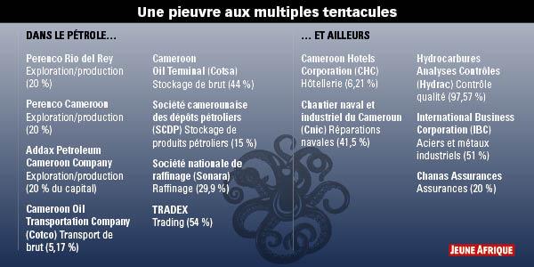Une pieuvre aux multiples tentacules