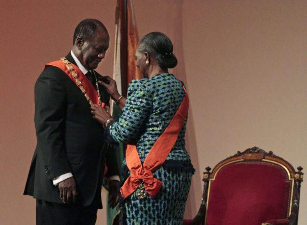 La chancelière Henriette Diabaté à l'investiture du président Alassane Ouattara, le 21 mai 2011, à Yamoussoukro, Côte d'Ivoire.