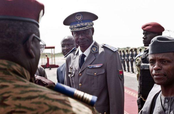 Le général burkinabè Gilbert Diendéré, leader présumé du coup d'Etat manqué à Ouagadougou, au Burkina Faso, le 23 septembre 2015.