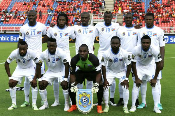 La sélection nationale de RDC en Guinée équatoriale pour la CAN de football, le 21 janvier 2015.