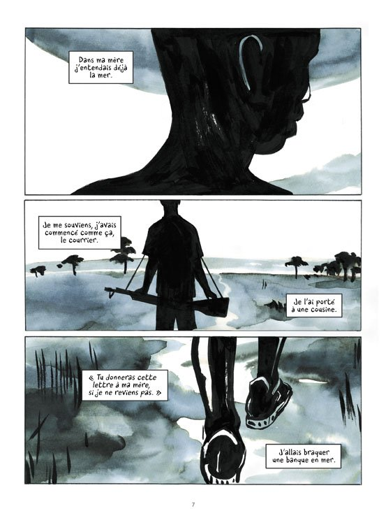 L'une des premières pages du récit.