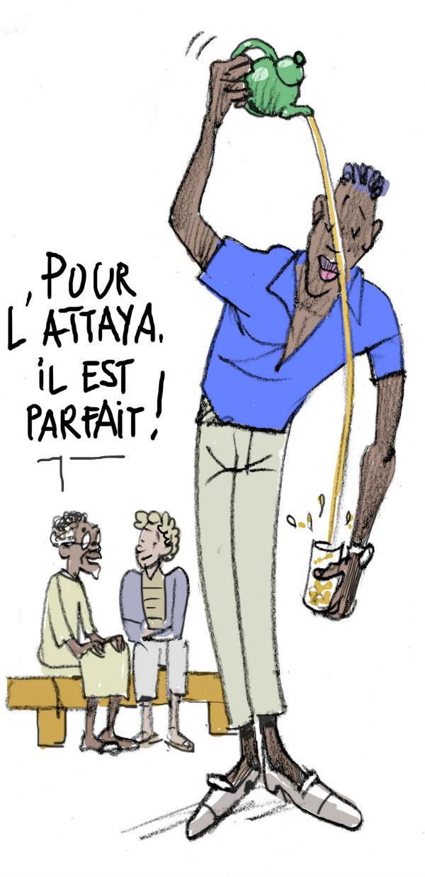 Attaya ( thé à la menthe au Sénégal)