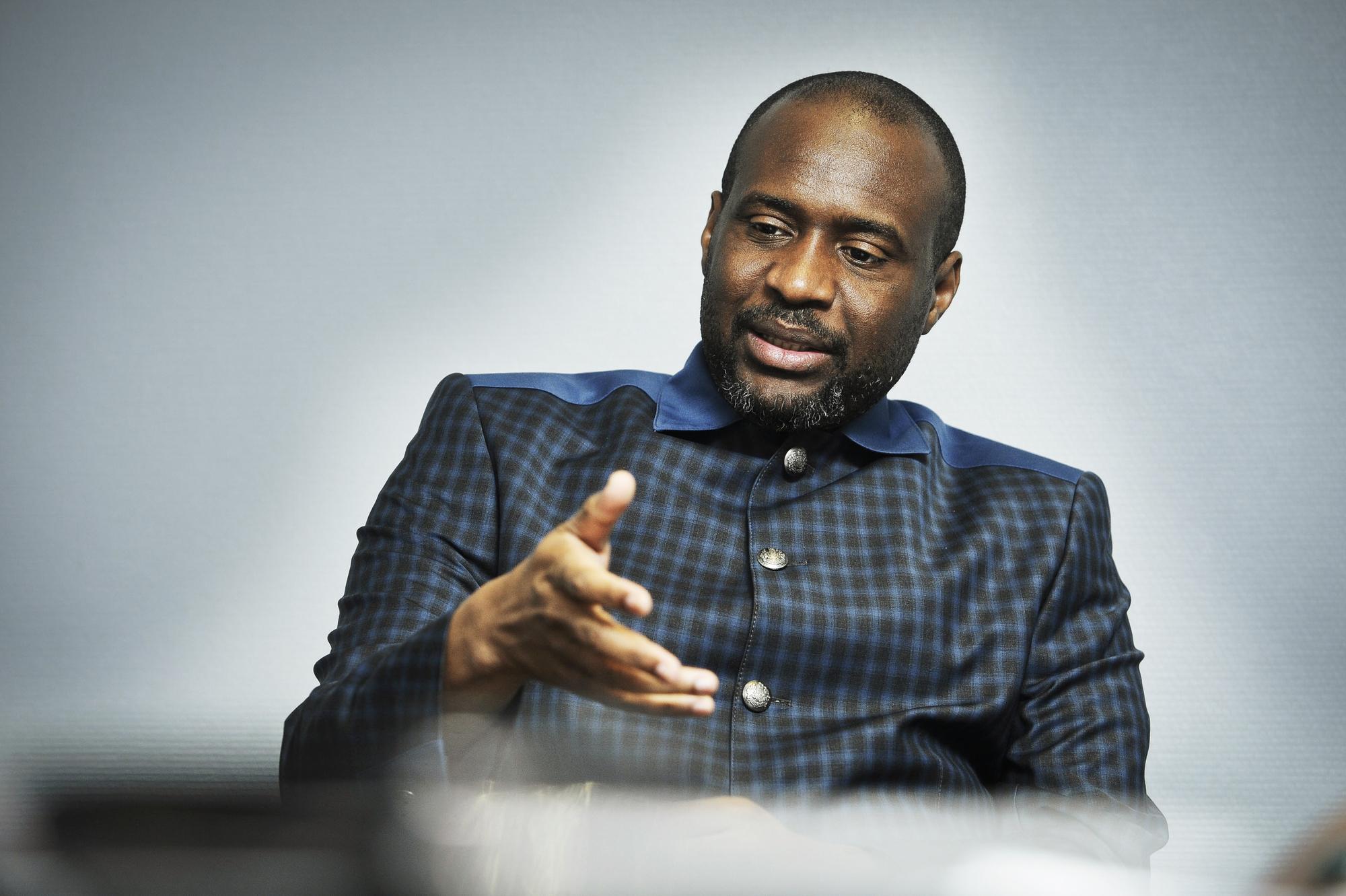 Moussa Mara, candidat à l'élection présidentielle au Mali prévue pour 2018