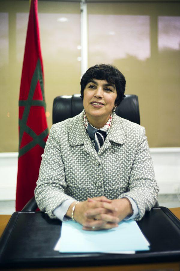 Zineb El Adaoui, à Kénitra, en 2014.
