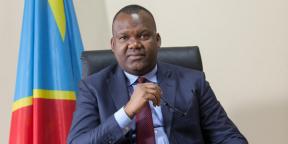 Corneille Nangaa, président de la Commission électorale nationale indépendante (Ceni), le 26 juin 2016 à Kinshasa.