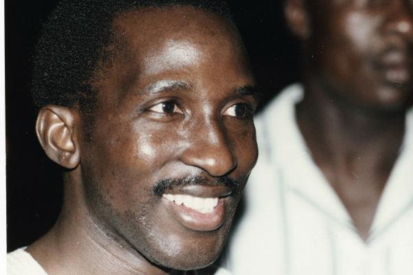 Thomas Sankara à Ouagadougou au Burkina Faso, le 26 février 1987.