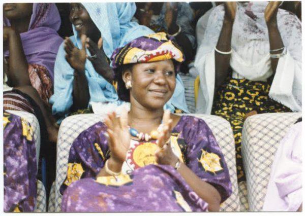 Mariam Sankara à Ouagadougou, en 1985, deux ans avant l'assassinat de son mari.