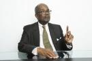 Casimir Oyé Mba, dans les locaux de la rédaction de Jeune Afrique, le 5octobre.