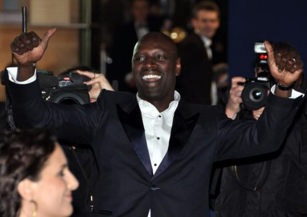 Omar Sy à la cérémonie des César en 2012.