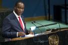 Samura Kamara, ministre sierra-léonais des Affaires étrangères et candidat à la présidentielle, le 22 septembre 2017 à l'ONU.