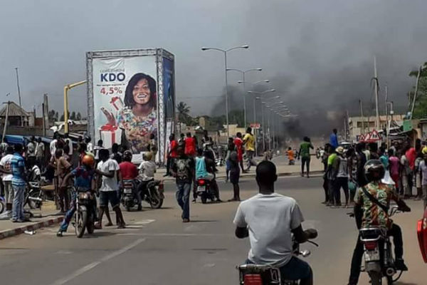 Manifestation de l'opposition à Lomé, le mercredi 18 octobre 2017.