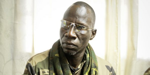 Nourredine Adam, ancien numéro 2 de la Séléka, le 14 mars 2013 à Bangui.