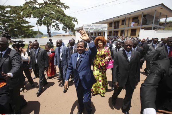 Paul Biya à Yaoundé, lors du scrutin présidentiel de 2011 (archives).