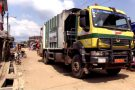 Un camion de la société Hysacam