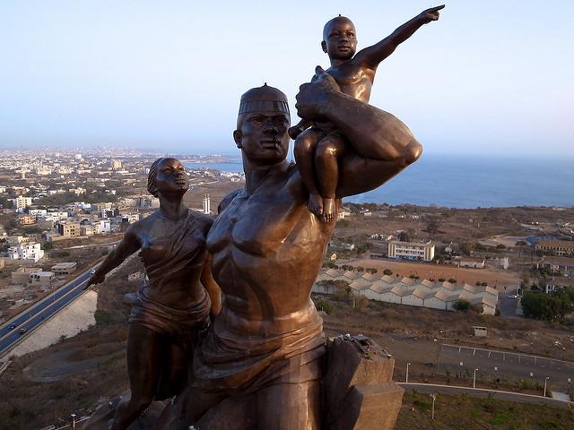 Statue de la renaissance africaine, Dakar, Sénégal.
