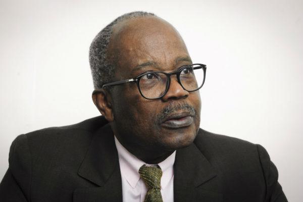 Casimir Oyé Mba à la rédaction de Jeune Afrique, le 5 octobre 2017.