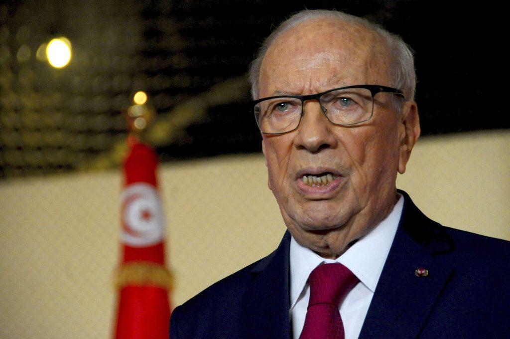 Le président tunisien Béji Caïd Essebsi, lors d'un discours à Tunis, en mai 2017 (image d'illustration).