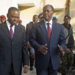 Alassane Ouattara en compagnie de Guillaume Soro à Abidjan le 4 décembre 2010 (photo d'illustration).