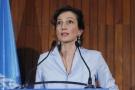 La nouvelle directrice générale de l'UNESCO Audrey Azoulay au siège de l'organisation, à Paris, le 13 octobre 2017.