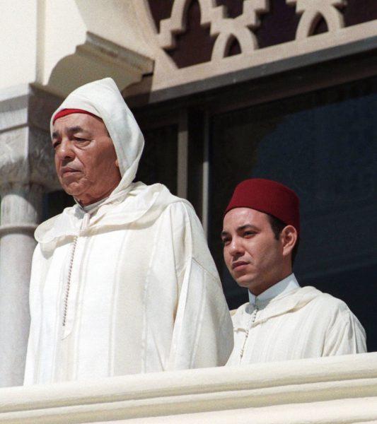 Hassan II et le prince héritier, Sidi Mohammed, le 3mars 1997, à Rabat.