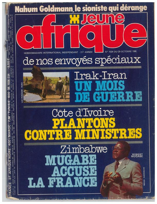La couverture de JA du 29 octobre 1980